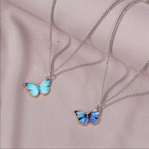 🦋NEW! Blue Butterfly Pendant Necklace VCSO Cute